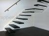Zwevende trappen of vrijdragende rechte designtrap - ZT05-B