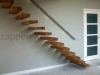 Zwevende trappen of vrijdragende rechte designtrap - ZT06-A
