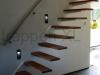 Zwevende trappen of vrijdragende rechte designtrap - ZT08-A