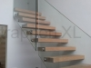 Zwevende trappen of vrijdragende rechte designtrap - ZT12-C