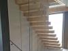 Zwevende trappen of vrijdragende rechte designtrap - ZT21- A