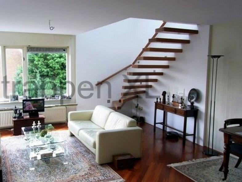 Zwevende trappen minimalistisch en een echte eyecatcher