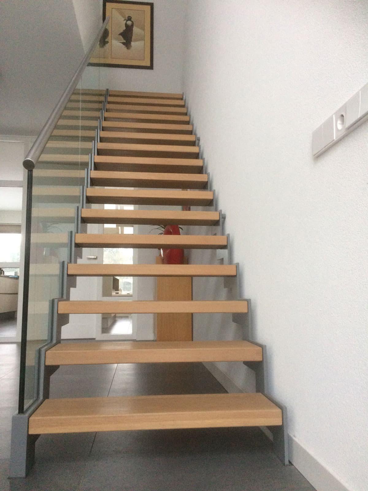 Muizenboomtrap met glazen balustrade specialist in for Balustrade trap