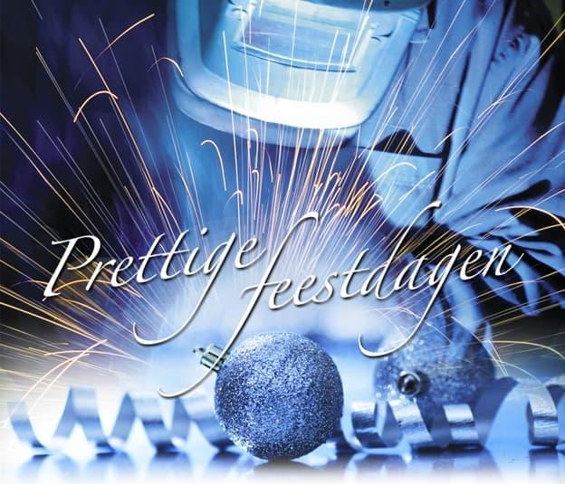 Prettige feestdagen metaal