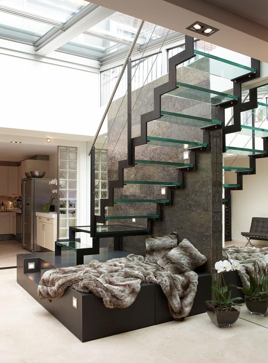 gt01b Glazen trap met bordes